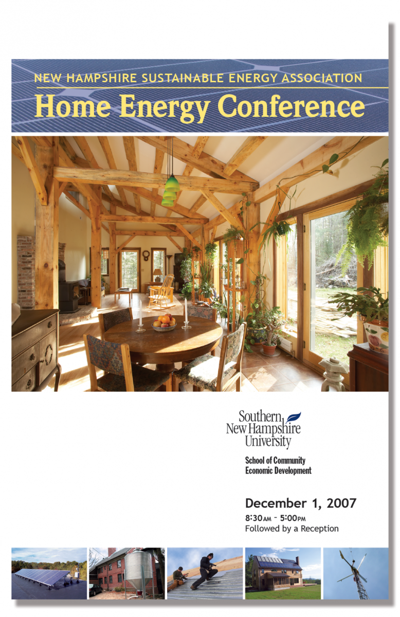 Program Cover for 1st Annual Home Energy Conference