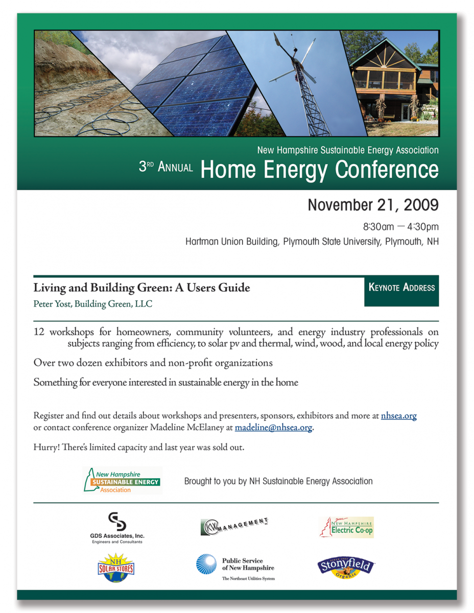 Poster for 3rd Annual Home Energy Conference
