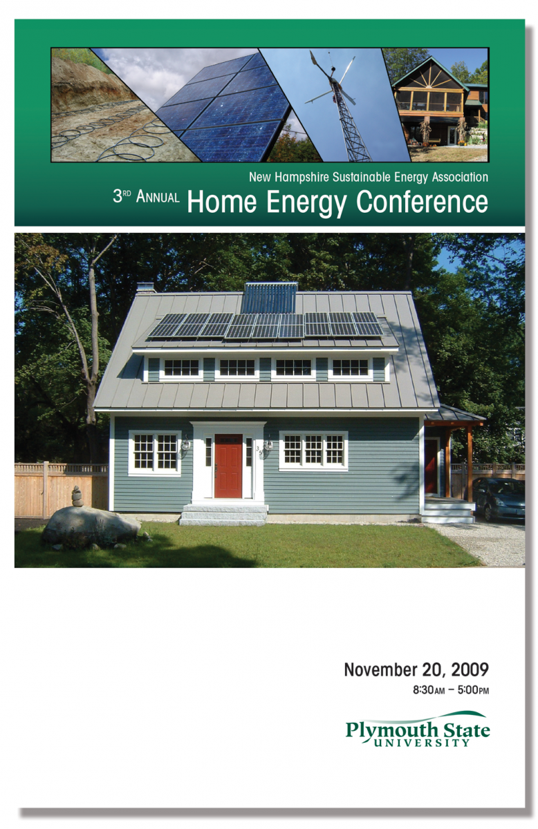 Program Cover for 3rd Annual Home Energy Conference